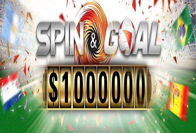 Выигрывайте до $1 миллиона в игре Spin-and-Goal от PokerStars
