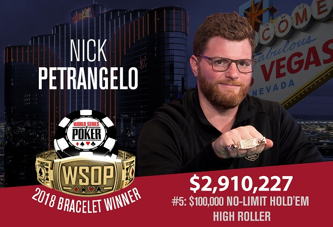 Чемпионом турнира за $100K стал Петранжело, а Фокс отдал браслет за дележку пополам