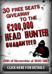Турнир Охотники за Головами 200 000&x20AC; Guaranteed от покерного сайта Poker Heaven.