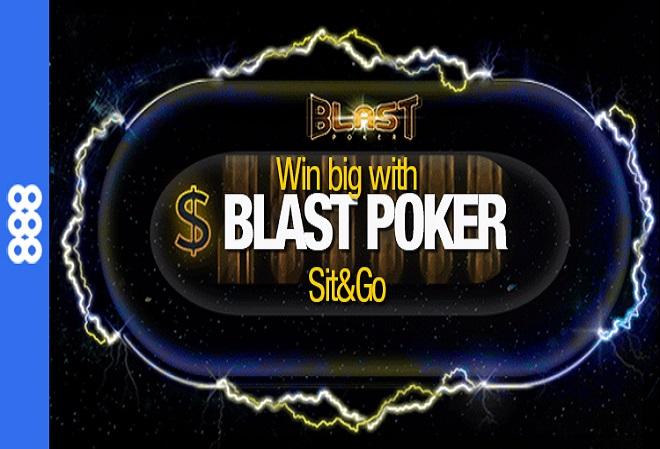 888 Poker проводит игры Blast Poker на миллион долларов с бай-ином всего в $1