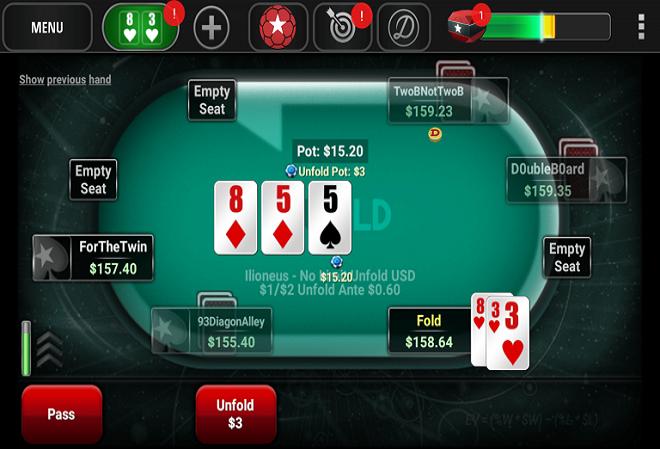 PokerStars отправляет непопулярный Unfold Poker на покой. На очереди покер с короткой колодой