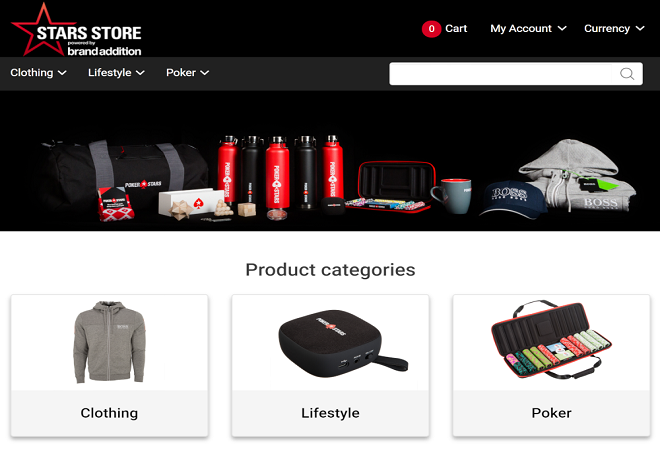PokerStars Store запущен в интернете