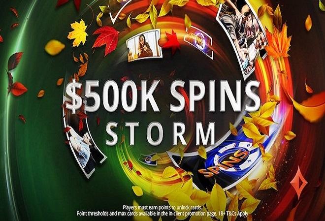 Промо-акция SPINS Storm на $500K на PartyPoker
