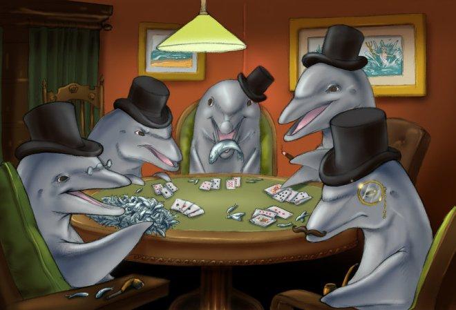 Представители животного мира за покерным столом