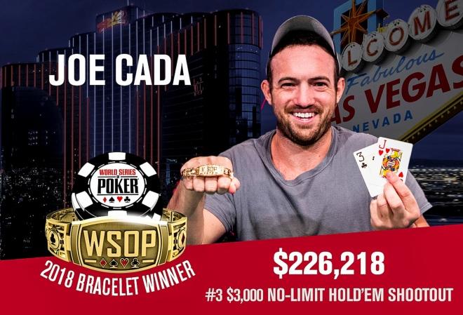 Джо Када выиграл третий в карьере браслет в шутаут-турнире за $3K