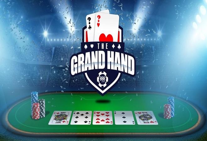 Выигрывайте до $1,000 в день с промо-акцией Grand Hand на 888 Poker