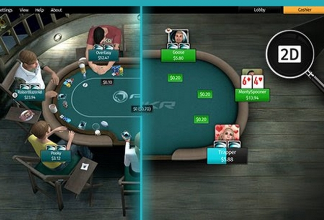 PKR добавляет возможность играть за 2D столами