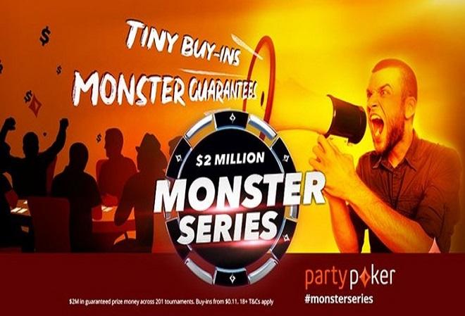Monster Series на PartyPoker предлагает крупные призовые при небольших бай-инах