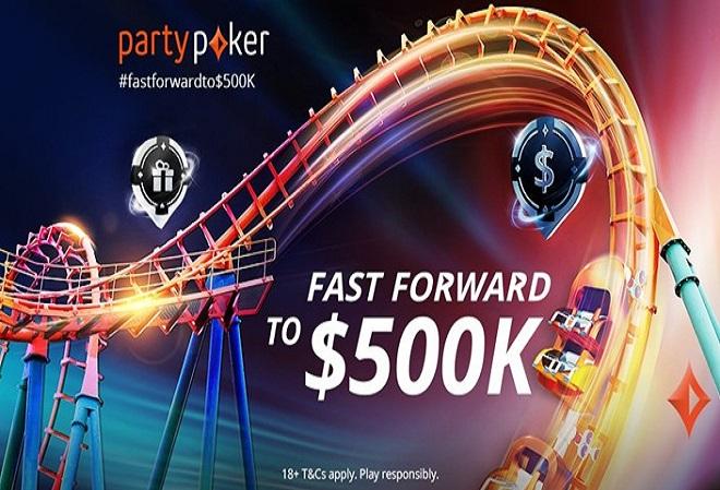 Розыгрыш лишних $500K для игроков в FastForward-покер на PartyPoker в этом месяце