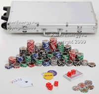 Покерный набор 1000 фишек по 11,5 г с номиналом