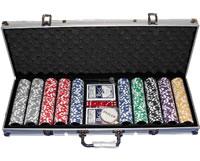 Профессиональный покерный набор из 500 композитных голографических фишек 13 г с номиналом